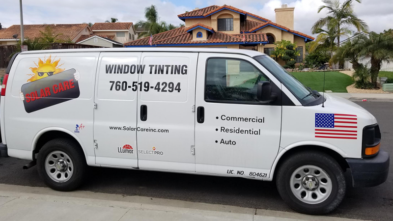 solar care mobil window tinting van